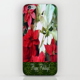 Mixed color Poinsettias 1 Happy Holidays S6F1 iPhone Skin