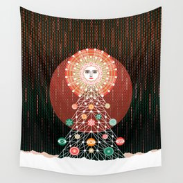 Christmas Tree by ©2018 Balbusso Twins Wall Tapestry