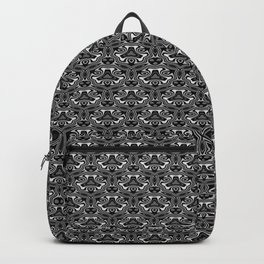 Black and White Seamless Pattern Backpack