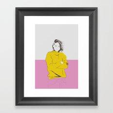 Woman Color 3 Framed Art Print