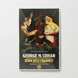 Vintage poster - Seven Keys to Baldpate Metal Print