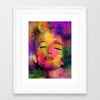 marilyn Framed Art Prints featuring MARILYN  by mark ashkenazi