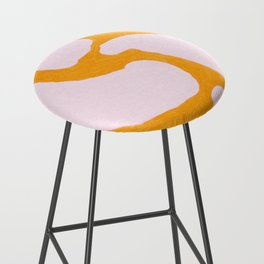 Abstract in Yellow and Cream Bar Stool
