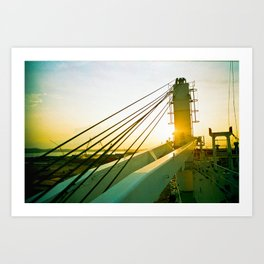 Sunset Dr Art Print
