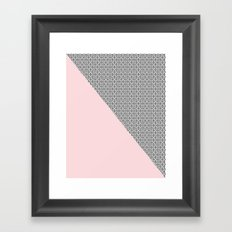 two triangles - blush and small xo Framed Art Print