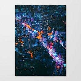 Cityscape Night View Canvas Print
