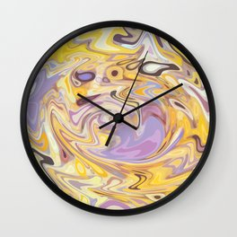 Yellow and Purple Car Wash Wall Clock