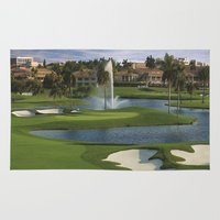 golf Area & Throw Rugs featuring GOLF COURSE by aztosaha