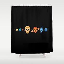 Skull Planets Shower Curtain