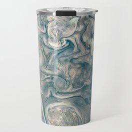 Jupiter Stormy Weather Watercolor Texture Travel Mug