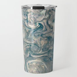 Jupiter Stormy Weather Watercolor Texture Travel Mug