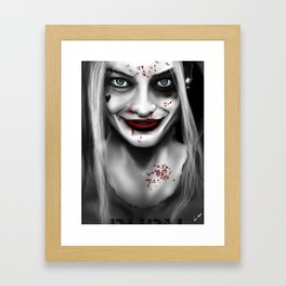 GCPD Booking #001 - Harley Quinn Framed Art Print