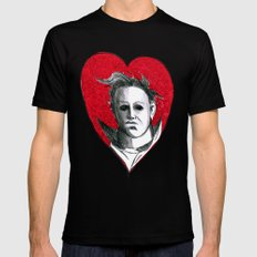 Micheal Myers (All Heart) X-LARGE Mens Fitted Tee Black
