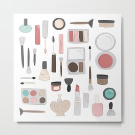 Let's Makeup Metal Print