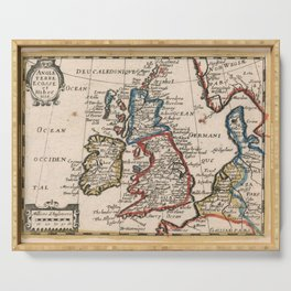 Vintage Map of The British Isles (1659) Serving Tray