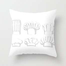Professional Chef Hat Throw Pillow