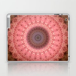 Mandala in brown and pink tones Laptop & iPad Skin