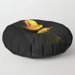 Fire Hydrant Orange and Black Art - Hot - Sharon Cummings Floor Pillow
