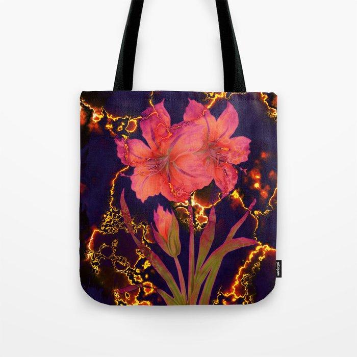 luminous amaryllis Tote Bag