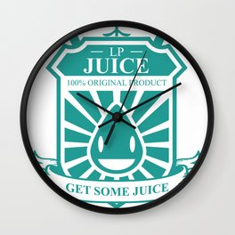 Juice Badge Wall Clock