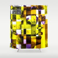 bob dylan Shower Curtains featuring Cubist / Bob Dylan by Maioriz Home