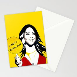 i don't know her Stationery Cards