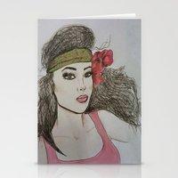 girly Stationery Cards featuring Girly,Girly by Nancy Ruvalcaba