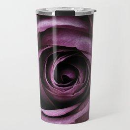Purple Rose Decorative Flower Travel Mug