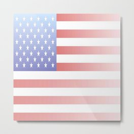flag of the usa - with color gradient Metal Print