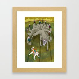Amaterasu vs Ninetails Framed Art Print