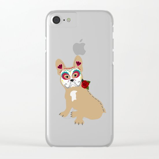 Frenchie Sugar Cream Clear iPhone Case