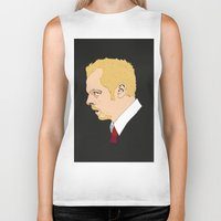 shaun of the dead Biker Tanks featuring Simon Pegg - Shaun Of The Dead by Tomcert