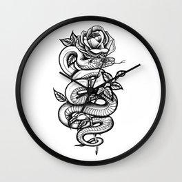 Snake and Rose Wall Clock
