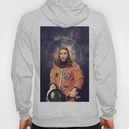 """Jesus """"Space Age"""" Christ - A Holy Astronaut Hoody"""