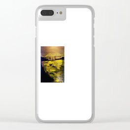Memphis Skyline at Night Clear iPhone Case