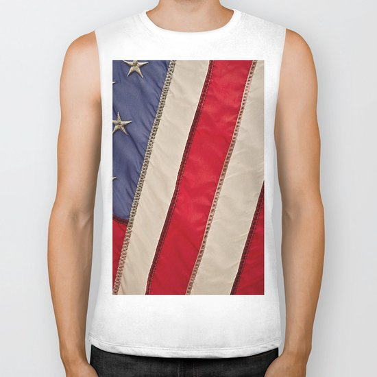 The flag of the United States of America Biker Tank