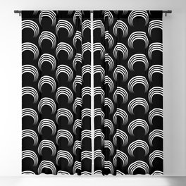 White arches Blackout Curtain