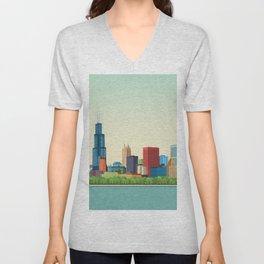 City Chicago Unisex V-Neck