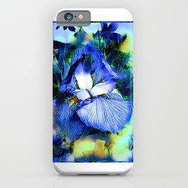 Iris Of The Blues iPhone Case