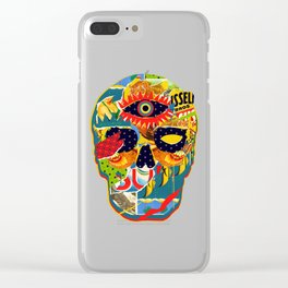 Three Eyed Skull Clear iPhone Case
