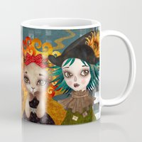 oz Mugs featuring Oz Girls by Sandra Vargas