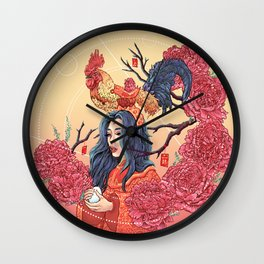 Rooster Year Wall Clock
