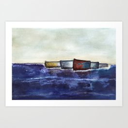 like boats we sway Art Print