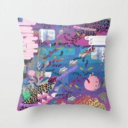 nu reef Throw Pillow