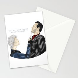 Carol and Negan Stationery Cards