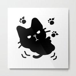 Cute black kitten Metal Print