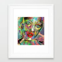 archan nair Framed Art Prints featuring Ultraviolet Drops by Archan Nair
