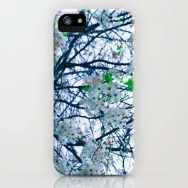 Cherry Blossom (Blue) iPhone Case