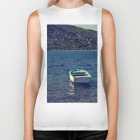 boat Biker Tanks featuring boat by gzm_guvenc
