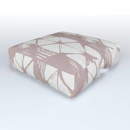 Simply Braided Chevron Clay Pink on Lunar Gray Outdoor Floor Cushion